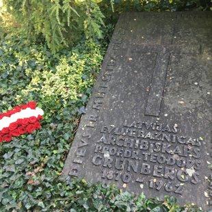 Latvijas Evaņģēliski luteriskās Baznīcas archibīskapa Prof. Dr. Teodora Grīnberga kaps.